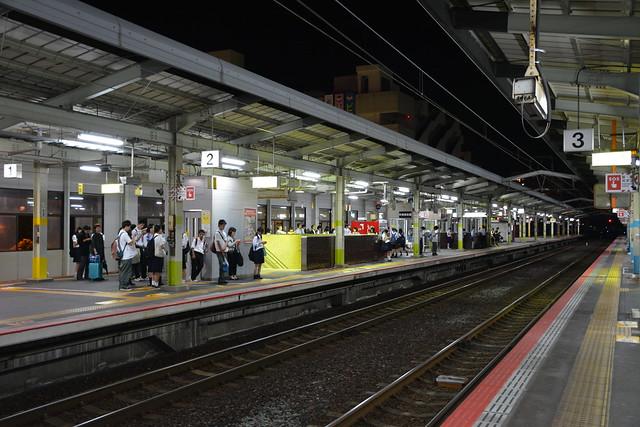 夜の松江駅