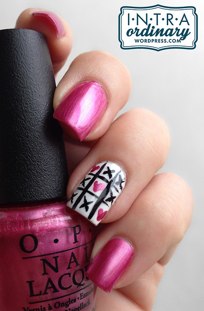 Valentines Day Nails (Tic Tac Toe)