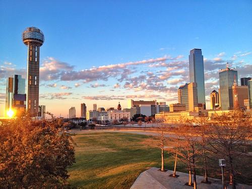 sunset texas reuniontower dallastx 2015 dallasskyline dallassunset yahooweather josephhaubert margarethuthillbridge