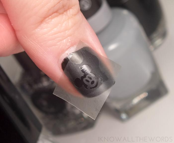 smART nails stencils- P033 Mouse (1)