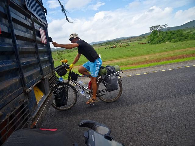 Truck surfing