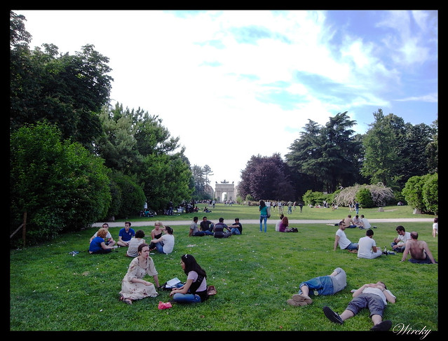 Por qué viajar a Milán - Parco Sempione con Arco de la paz al fondo