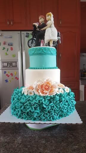 Pretty Wedding Cake by CheAnne Poblete-Cortez