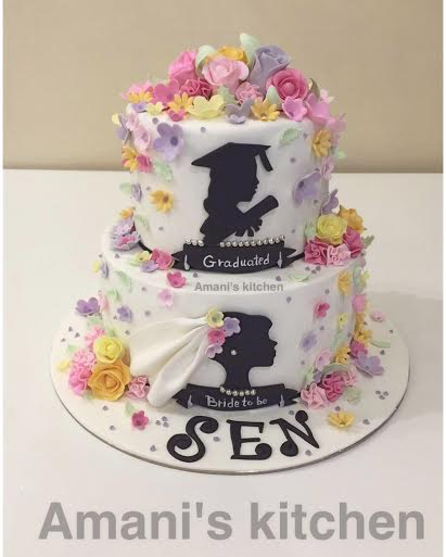Graduation Cake by Amani Alrahabi from Amani's Kitchen