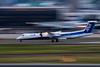 Photo:Panning shot of ANA Q400 JA461A By kimtetsu