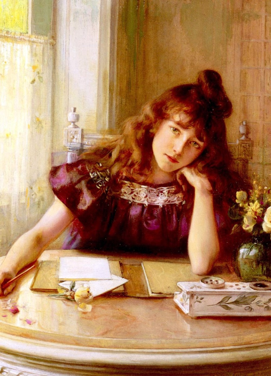 The Letter by Albert Lynch