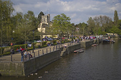 St Mary's and Twickenham Embankment from Eel Pie Bridge 06.05.13.