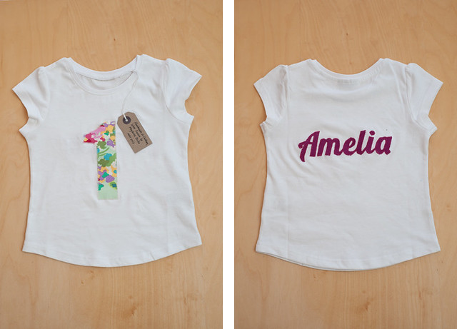 Amelia's birthday t-shirt