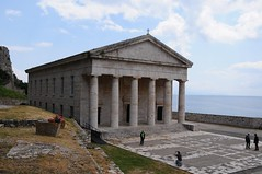 temple(0.0), ruins(0.0), mausoleum(0.0), fortification(0.0), ancient roman architecture(1.0), ancient history(1.0), building(1.0), monastery(1.0), historic site(1.0), landmark(1.0), architecture(1.0), ancient greek temple(1.0), roman temple(1.0), place of worship(1.0), chapel(1.0), archaeological site(1.0),