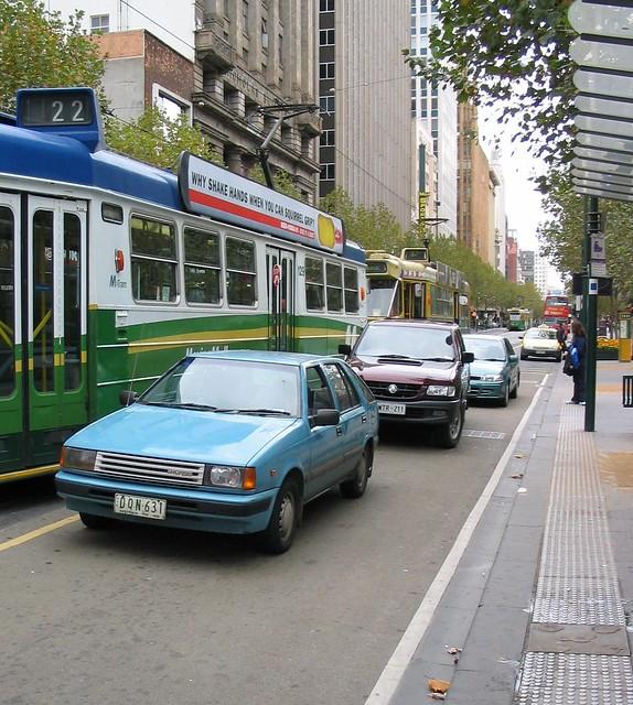 Swanston Street, Saturday afternoon (2003)