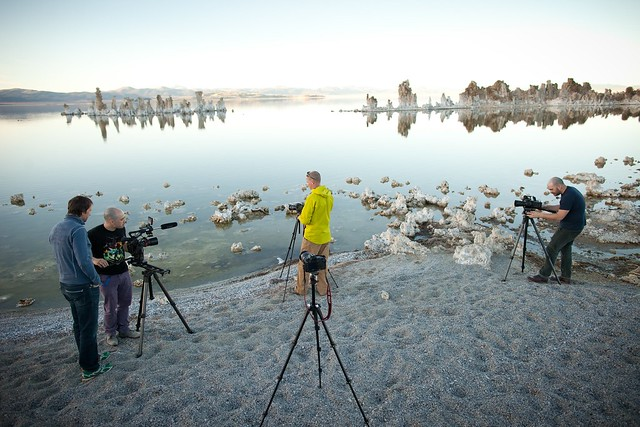 Manfrotto Be Free Tripod ad shoot BTS - Mono Lake BTS