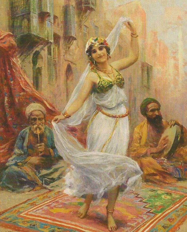 Danza oriental. Fabio Fabbi (1861-1946). . Autor, In Pastel