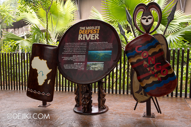 River Safari - Congo River display