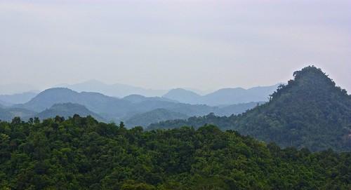 Rolling hills near Vieng Xai