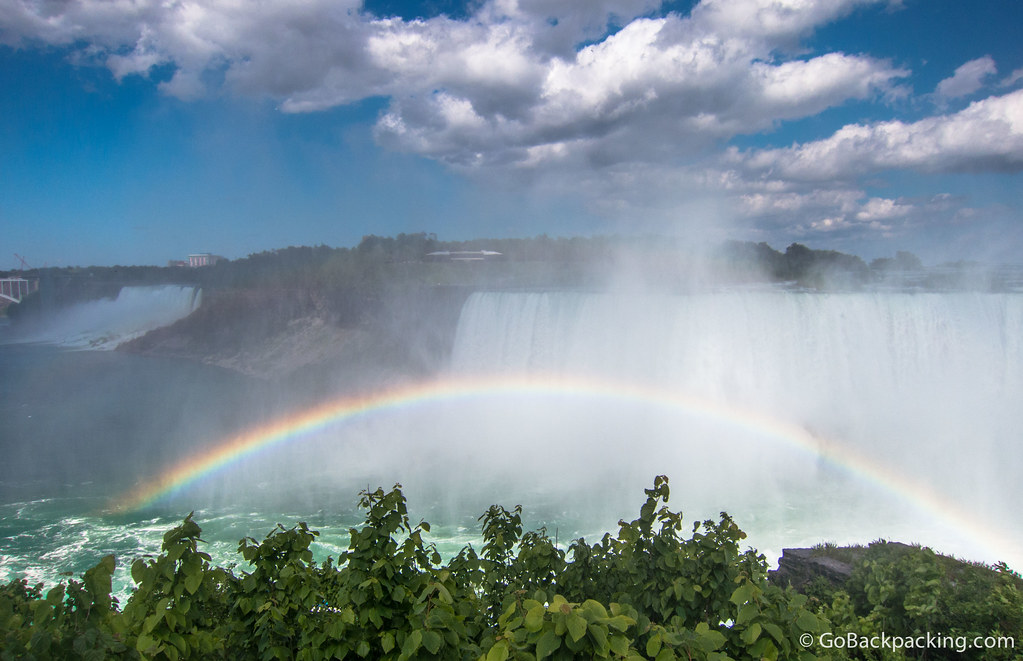 Full rainbows make regular appearances at the Falls