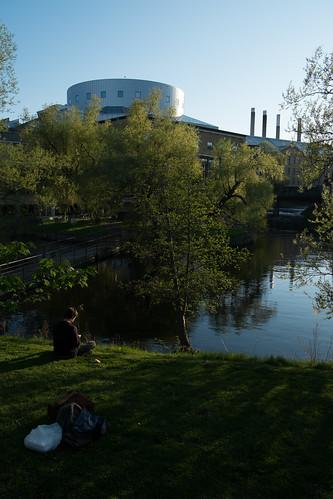 bridge sunset river sweden dam bags norrköping chimneys motalaström louisdegeerkonsertkongress fujifilmxe1