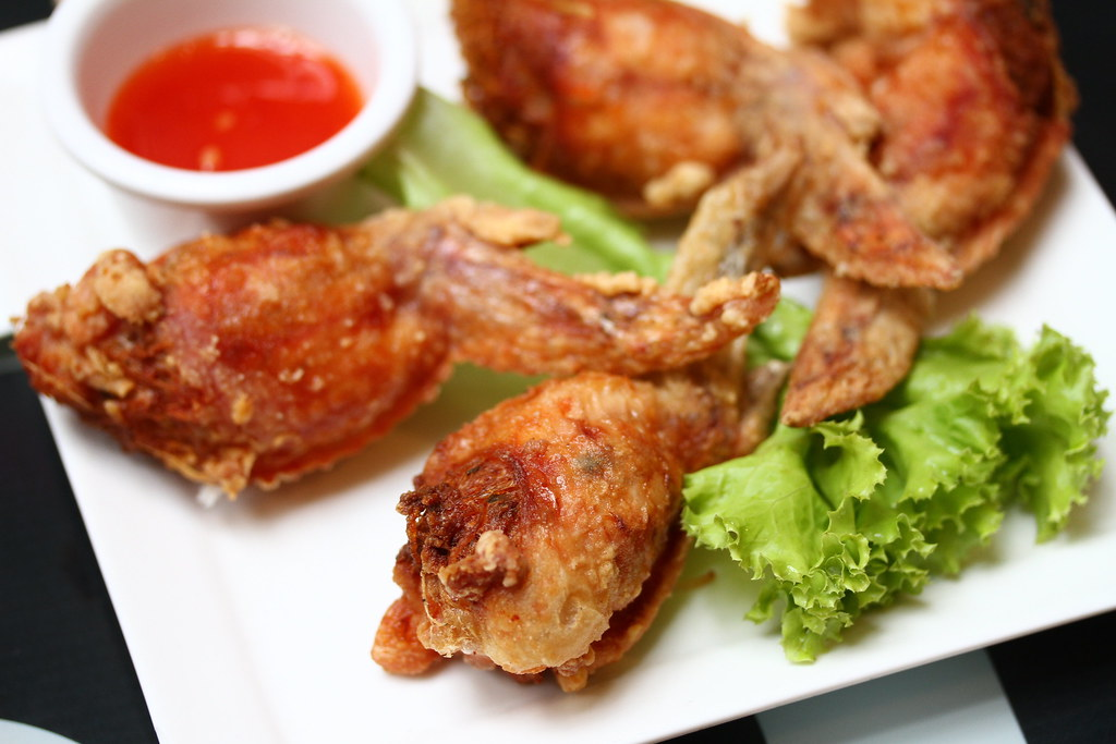 Bangkok Jam's Chicken wings stuffed with mushroom and glass noodles