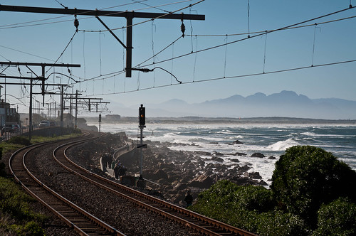 Railway next to Kalk Bay, Cape Town