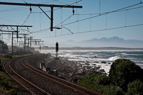 Railway next to Kalk Bay, Cape Town