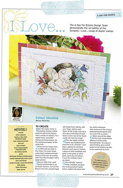 Complete Cardmaking magazine article - A Day for Daisies