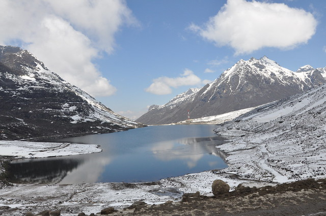 The sky and earth meet, merge, and find peace with each other - Sela lake is at a distance of about 78 km from Tawang.