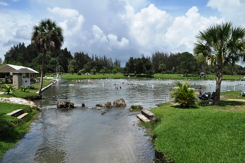 Dozens of people took one last soak before Warm Mineral Springs in North Port, Fla., closes indefinitely. June 30, 2103