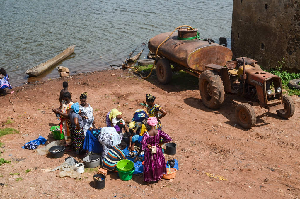 Buying fish in Bafata, Guinea-Bissau
