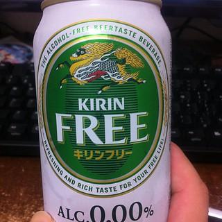 今日の湯上りの飲みものは、キリンフリー。ノンアルコールビール。