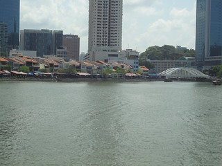 Rows of shophouses along the Singapore River