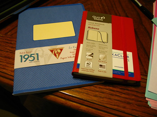 Quo Vadis and Clairfontaine notebooks