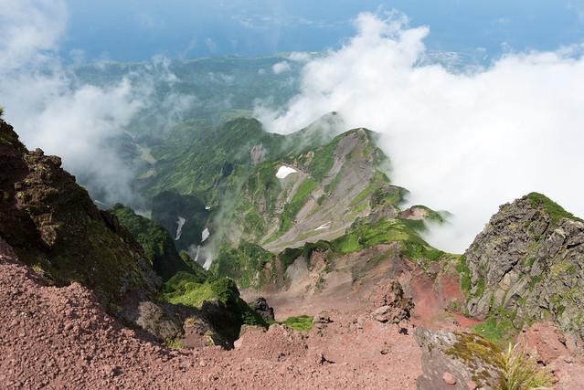 利尻山 山頂からの景色