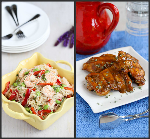 New Recipes: Grilled Crostini, Shrimp Cocktail & Rice Noodle Salad | cookincanuck.com