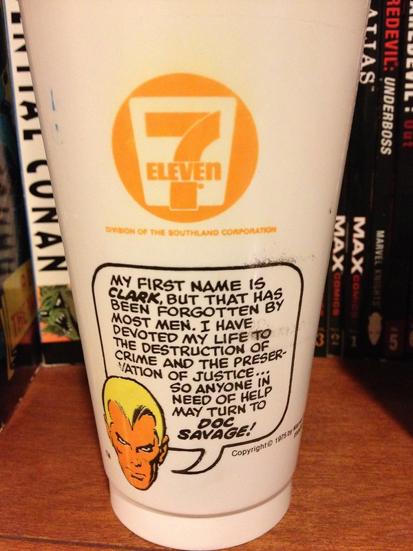 Doc Savage Slurpee Cup back