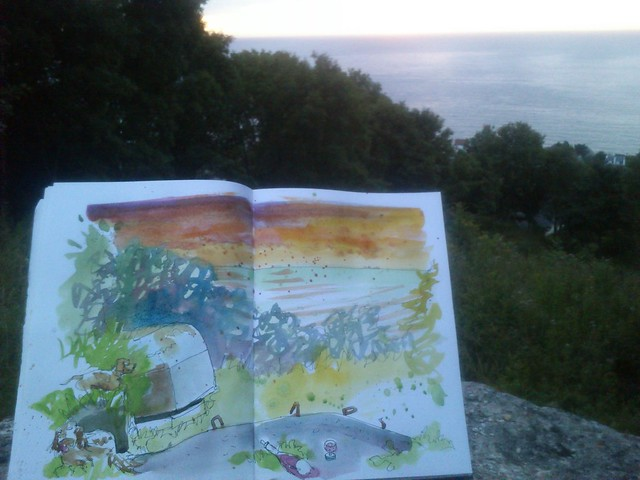 Normandy Holidays Homework #2 - Bunker sunset pic 2