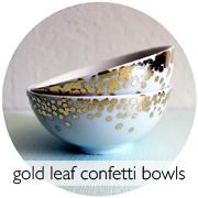 Gold Leaf Confetti Bowls