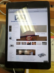 Double A Renov Website on your Tablet