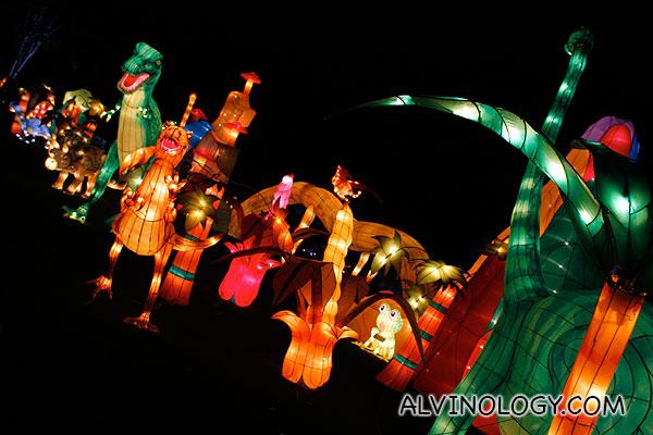 Jurassic Park lanterns