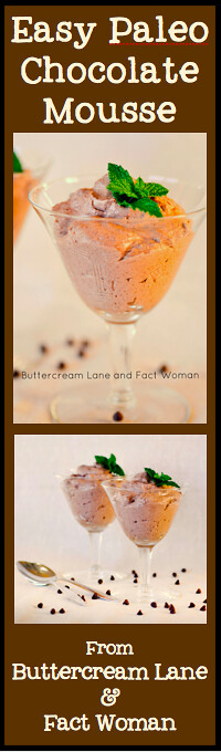 Easy Paleo Chocolate Mousse from Buttercream Lane and Fact Woman