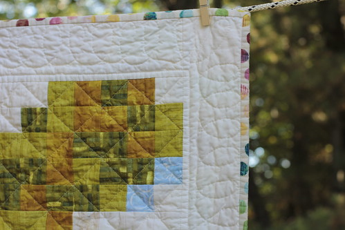 Pixelated Vine Quilt - e
