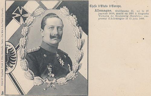 Kaiser Wilhelm II. auf einer französischen Karte by Miss Mertens