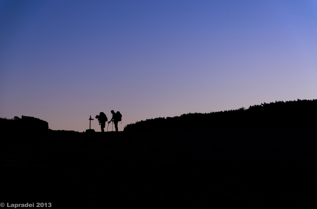 hiker's silhouette