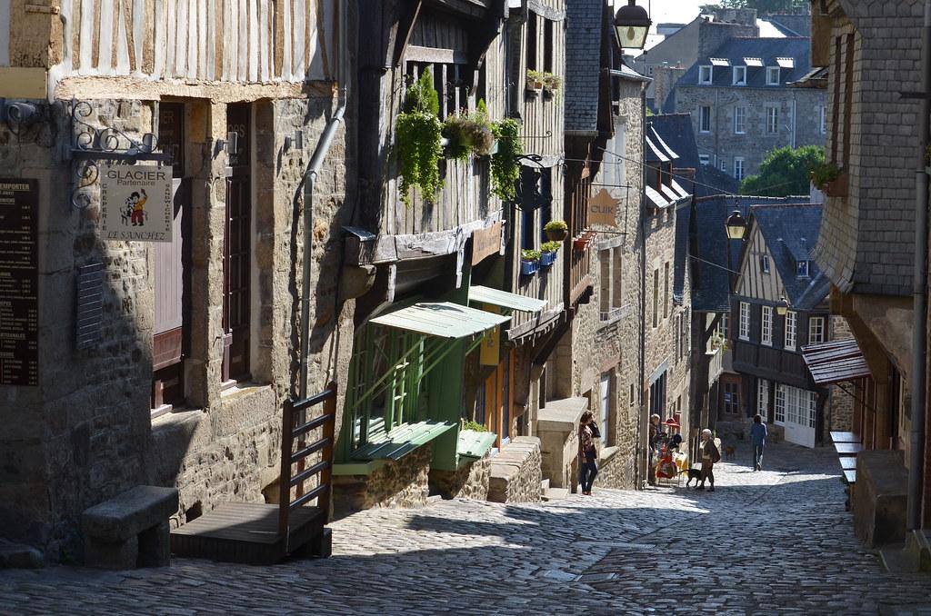 Sunny Street in Dinan