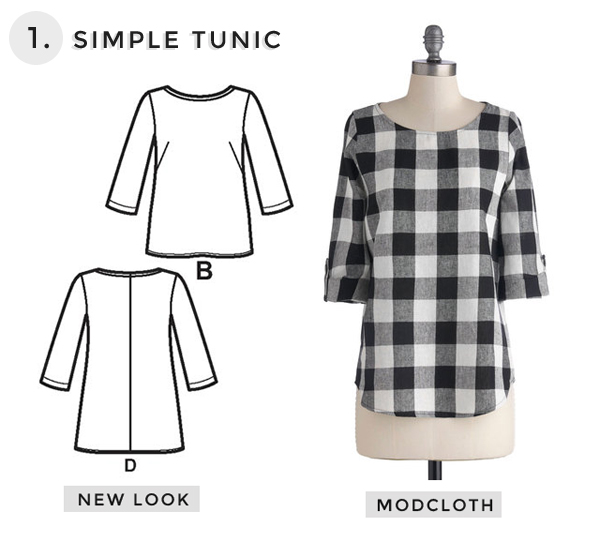 Simple Gingham Tunic