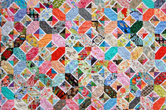 Kaori's Hugs and Kisses Quilt Detail