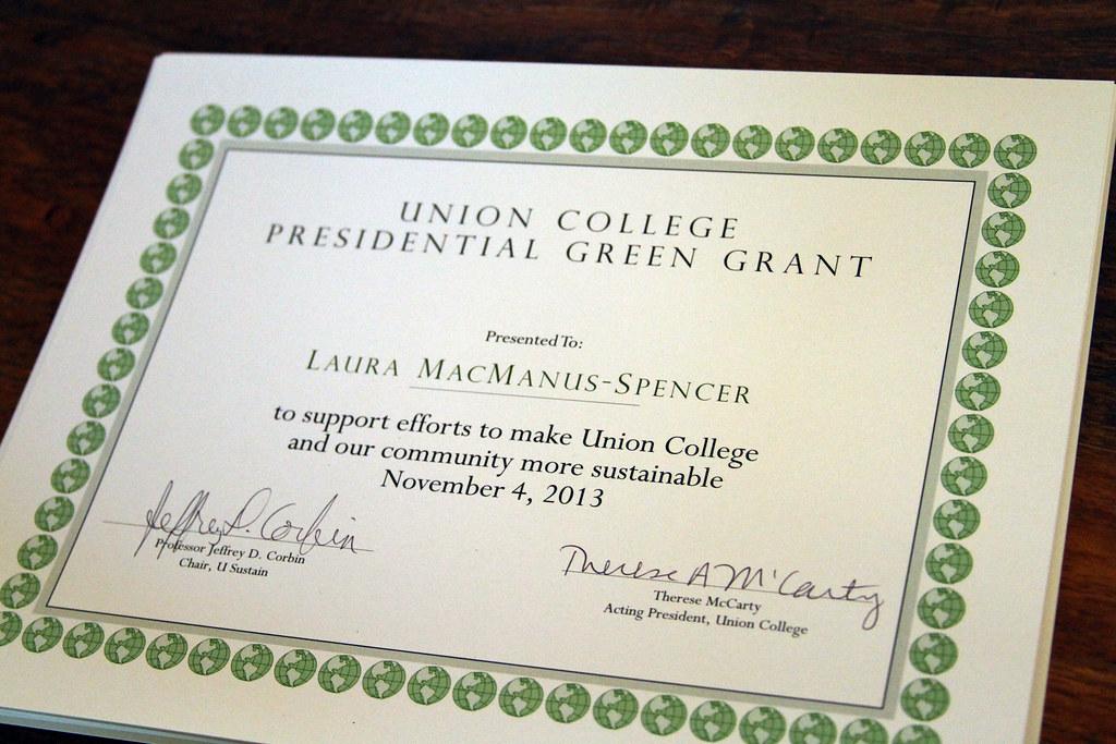 Presidential Green Grant