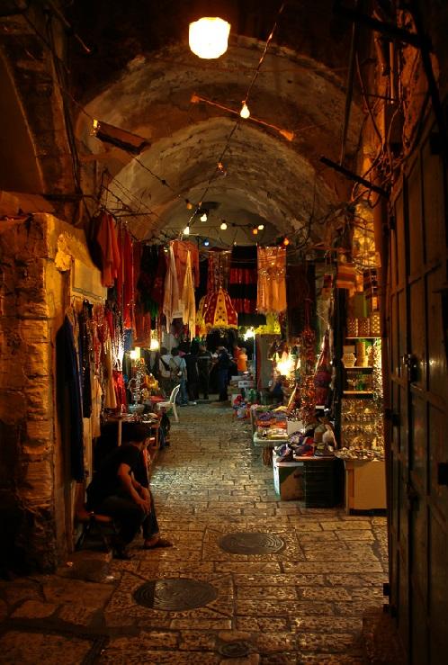 22. Antiguo bazar de Jerusalén. Autor, Jonas Hansel