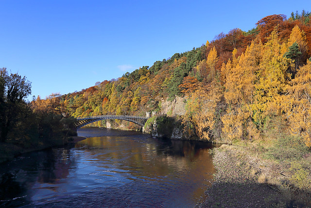 AUTUMN COLOURS AT CRAIGELLACHIE BRIDGE