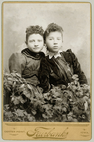 Cabinet Card two girls