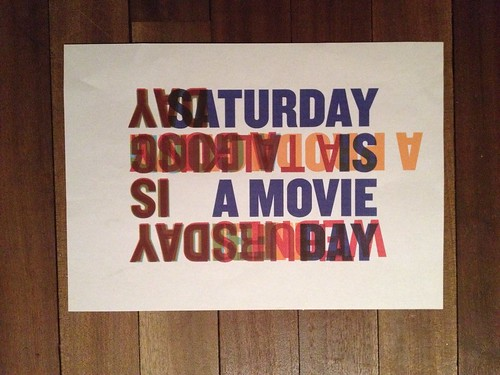 Day 50 - Saturday is a movie day
