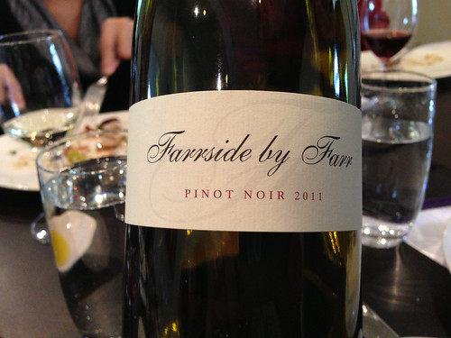 Farrside by Far Pinot Noir (2011) at Gladioli Restaurant